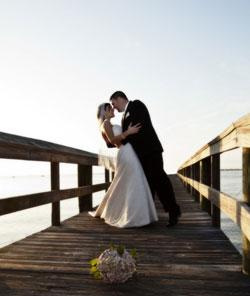 Wedding Ceremony in Perth on pier